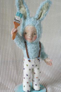 Yoo Moo felted doll