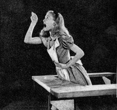 Kathryn Beaumont, the voice of and model for Alice.