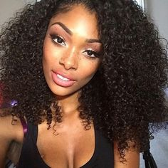44.50$  Buy now - http://alif3t.worldwells.pw/go.php?t=32782603332 - Japanese Kanekalon Fiber Long Black Curly Free Parting Synthetic Lace Front Wigs Afro Kinky Curly Fashion Lace Front Wig On Sale 44.50$