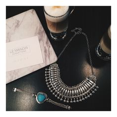 We've been waiting for them, you've been waiting for them! They arrived!!! Antique Silver Choker [40$] now in store & online! Shop link in profile! Antique Grece Bracelet [18$] #antique #jewelry #treasurebox #shopmanoir #manoircoquetterie #coffee #marblemac