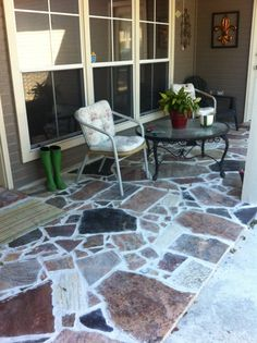 my patio are peices of granite