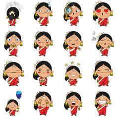Illustration of south indian woman set P. Cartoon Girl Drawing, Cartoon Drawings, Cartoon Art, Cute Drawings, Indian Illustration, Car Illustration, Illustrations, Character Drawing, Character Design