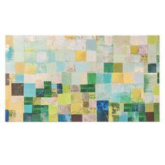 Toile multicolore 55 x 98 cm AQUA SQUARES