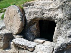 A Roman period tomb with a rolling stone, discovered near Mount Carmel in Israel.