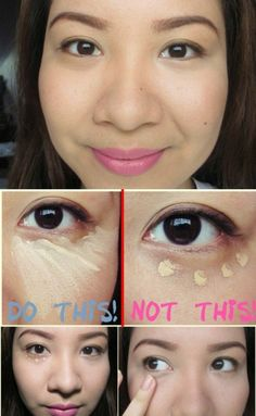 MAKEUP - Apply Concealer in a Triangle Shape - 40 DIY Beauty Hacks that Are Borderline Genius.