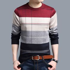Cheap knitted sweater men, Buy Quality mens pullover sweaters directly from China brand sweater men Suppliers: 2018 brand social cotton thin men's pullover sweaters casual crocheted striped knitted sweater men masculino jersey clothes 5066 Cotton Sweater, Pullover Sweaters, Men Sweater, Mens Pullover, Cotton Vest, Sweater Fashion, Pull Crochet, Distressed Leather Jacket, Jersey Outfit
