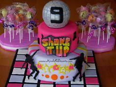 Children's Birthday Cakes - Shake it Up themed birthday cake, with musical cake pops Dance Birthday Cake, Music Theme Birthday, Music Themed Parties, Girl Birthday Themes, Themed Birthday Cakes, Themed Cakes, Birthday Ideas, Happy Birthday, Dance Cakes
