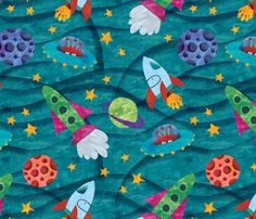 spaced out! fabric by karismithdesigns on Spoonflower - custom fabric