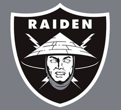 Whether you're a fan of the Oakland Raiders or Mortal Kombat, Lord Raiden will terrorize your opponents with his glowing eyes, teleportation combos, and Lord Raiden, Minions, Raiden Mortal Kombat, Logo Sticker, Oakland Raiders, Geek Chic, Cool Logo, Juventus Logo, Cool T Shirts