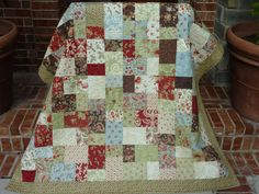Chai Tea Lap Quilt  Moda Glace by TheQuiltedKitchen on Etsy, $245.00