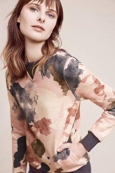 Watercolor Sweatshirt | Anthropologie