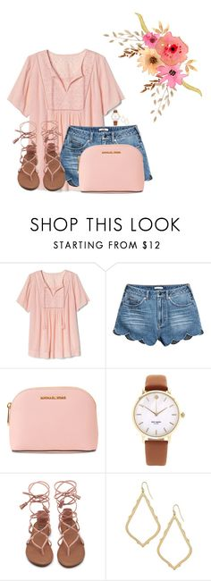 """Going to Alabama tomorrow!"" by annaewakefield ❤ liked on Polyvore featuring Gap, MICHAEL Michael Kors, Kate Spade and Kendra Scott"