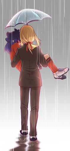 ※日本語が上手ではなくて翻訳機使用をしていますT_T 二人の間に傘の用途はこれ以上重要ではないようだ