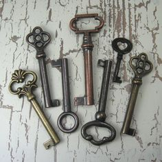 Antique keys, one of my particular obsessions. For unlocking things...