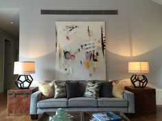 Painting by Michelle Breton from Thierry B. fine arts, furniture by Coco Republic Melbourne