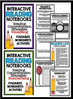 Interactive Reading Notebooks - Reading Comprehension Strategies: This big bundle of resources contains activities, worksheets, and foldables that target the specific reading strategies of questioning, visualizing, making connections, inferring, determining importance, and summarizing.  Aligned to common core for grades 1-4