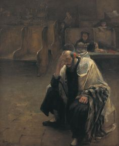 In the Synagogue by Alfred Wolmark