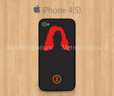 Black Widow iPhone 4 iPhone 4S Case The Avengers by MetroEmporium, $13.79