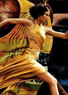 Joan Smalls follows Usain Bolt   http://cdn.trendhunterstatic.com/thumbs/vogue-usa-june-2012.jpeg