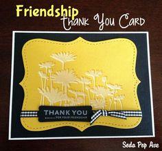 Friendship Thank You Card from Soda Pop Avenue. www.SodaPopAve.com