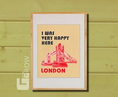 Would love to hang this in my craft/guest room to remind me of living abroad in London during college!