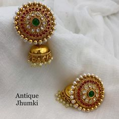 Jhumka at Rs 699 with shipping Direct message to place order Shipping is extra the damage will be… Gold Jhumka Earrings, Indian Jewelry Earrings, Jewelry Design Earrings, Gold Earrings Designs, Necklace Designs, India Jewelry, Gold Necklace, Amethyst Earrings, Big Earrings