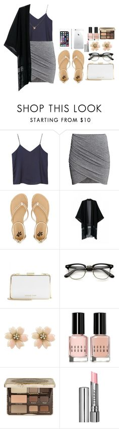 """Untitled #108"" by mimicherelus ❤ liked on Polyvore featuring Monki, H&M, 2b bebe, MICHAEL Michael Kors, Bobbi Brown Cosmetics, Too Faced Cosmetics and By Terry"