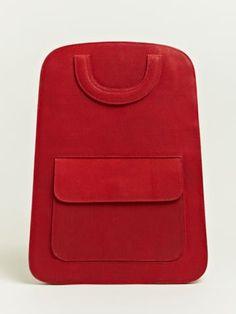Maison Martin Margiela Defile Women's Flat Basket Weave Back Pack