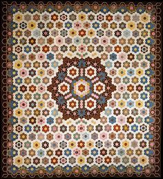Quilt, Hexagon or Honeycomb pattern Date: ca. 1830 Geography: Mid-Atlantic, New York, New York, United States Culture: American Medium: Cotton Dimensions: 107 5/8 x 98 1/4 in. (273.4 x 249.6 cm)