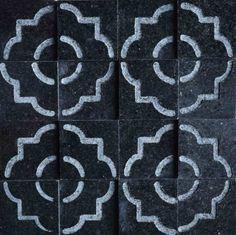 Brogliato Revestimentos - Coleções - Print - Tile Black - 30x30cm.