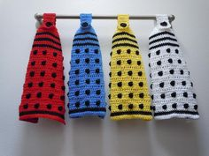 Doctor Who Dalek hanging towel & more doctor who patterns