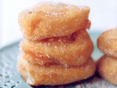 """""""Roasted Apple Beignets with Cinnamon Sugar"""" from Cookstr.com--Looking for caramelized apple recipes. This is not it, but sure looks good!"""