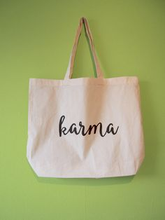 Karma Natural Cotton Tote Bag/Maxi Bag/Canvas Tote Bag by BYKI