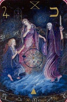 Wheel of Fortune - Spiral Tarot / triple goddess / Sacred Geometry maiden mother and crone Magick, Witchcraft, Wheel Of Fortune Tarot, Pagan Art, Tarot Major Arcana, Triple Goddess, Illustration, Tarot Spreads, Oracle Cards