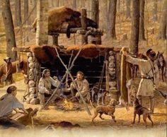 Fur Trappers Camp | Fur Trade Mountain Men | Pinterest