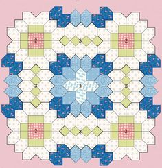 lucy+boston+patchwork+of+the+crosses | Patchwork of the Crosses - Quilts (beginners)EPP Coffin shape idea