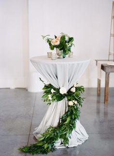 Blair and Danny's Merrimon-Wynne House Wedding Cocktail Wedding Reception, Wedding Lounge, Wedding Art, Wedding Flowers, Decor Wedding, Wedding Greenery, Gothic Wedding, Wedding Rings, Wedding Table Linens