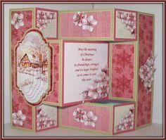 Card Gallery - CHRISTMAS WINTER COTTAGE Tri Shutter Card Mini Kit