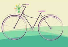 flowers and bike by student Amanda Hyer