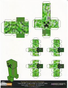 Minecraft Papercraft Slime Minecraft Papercraft Creepers Tiny Papercraft T Minecraft Poster, Minecraft Blocks, Minecraft Room, Minecraft Pixel Art, Minecraft Creations, Minecraft Furniture, Minecraft Skins, Minecraft Buildings, Minecraft Memes