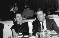 Pat and Peter Lawford; Pat was one of the 9 Kennedy siblings, set her sights on a Hollywood career, and eventually married actor Peter Lawford. Rose Kennedy, Ted Kennedy, Jackie Kennedy, Jfk Funeral, Patricia Kennedy, Aristotle Onassis, Peter Lawford, Brown Derby, Hollywood Star