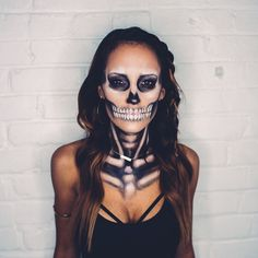 Pin for Later: Your Favorite Bloggers' Halloween Costumes Are Their Best #OOTDs Mad For Skulls If you wear all black on a day-to-day basis, this outfit is for you.
