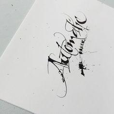 #mondayblues #splatterfun #automaticpen #usedifferently #calligraphy #contemporary #pelikan4001