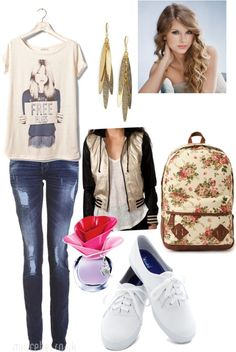 """School Day .-."" by strawberrypancakes ❤ liked on Polyvore"