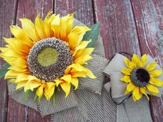 Sunflower Pew Bows, Sunflower Wedding, Giant Sunflower and Burlap Wedding Bow, Country Wedding Decor, Bride and Groom Chairs