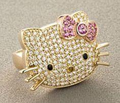 Hello Kitty Diamond Ring