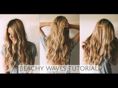Beachy Waves Tutorial Barefoot Blonde by Amber Fillerup Clark