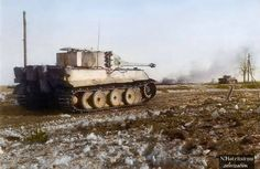 A Tiger 1 of sPzAbt.501,covering another Tiger,both firing at long range on the Eastern Front. The 501st Heavy Panzer Battalion (Schwere Panzer-Abteilung 501) was an independent armoured battalion equipped with heavy tanks. The battalion was the second unit to receive and use the Tiger I heavy tank, changing to Tiger IIs in mid-1944.It fought and surrendered in Tunisia, reformed in September 1943, then fought on the Eastern front,destroyed,it reformed with Tiger IIs in July 1944, then mostly…