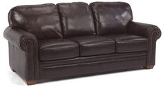 "Flexsteel Furniture: Sofas: HarrisonSofa with nails (3270-31)  ""Velencia"" comes standard on this style"