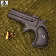 Remington 1866 Derringer 3d model from humster3d.com. Price: $50
